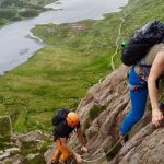 Scrambling On The Idwal Buttress, Snowdonia