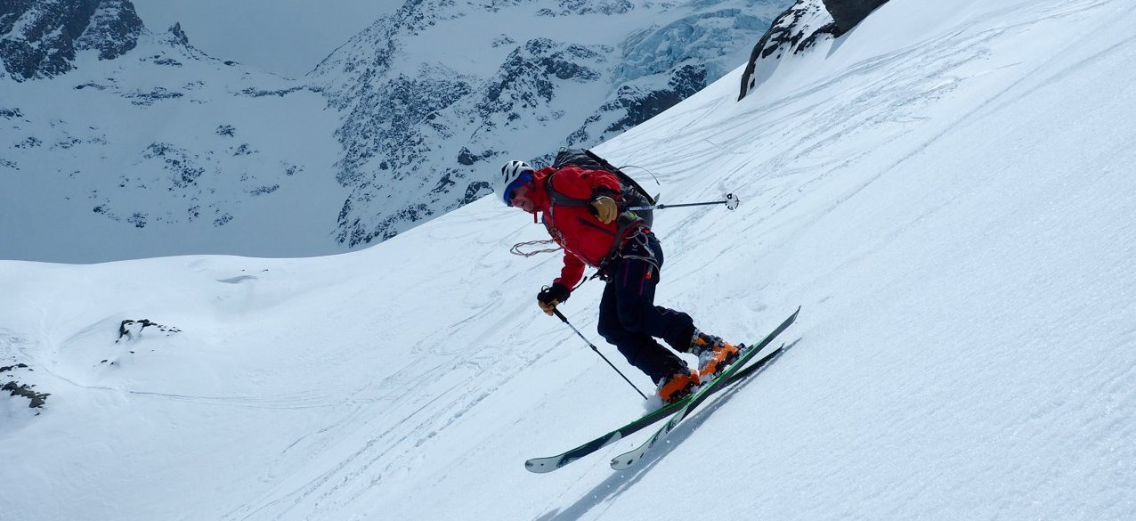 cc7ba479ec3 Late in the ski season. The valleys have turned to spring and the winter  snow pack is stabilising. This is the time for the ski mountaineer to head  high in ...