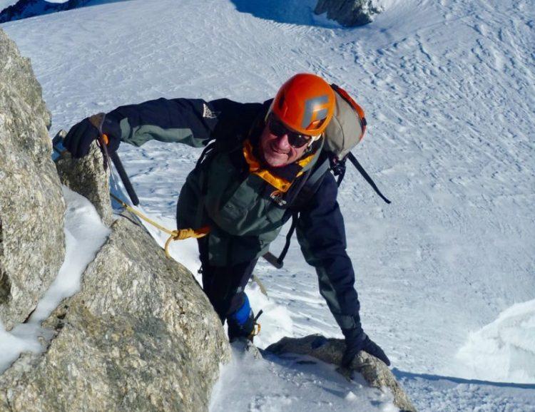 Phil Climbing The East Face Of The Aiguille de Toule