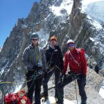 Team Alpinist Training On Pt Lachenal