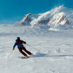 Toby Skiing The Vallee Blanche from Italy