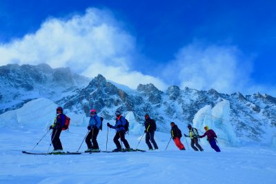 Ski Touring On The Col Tour Noire