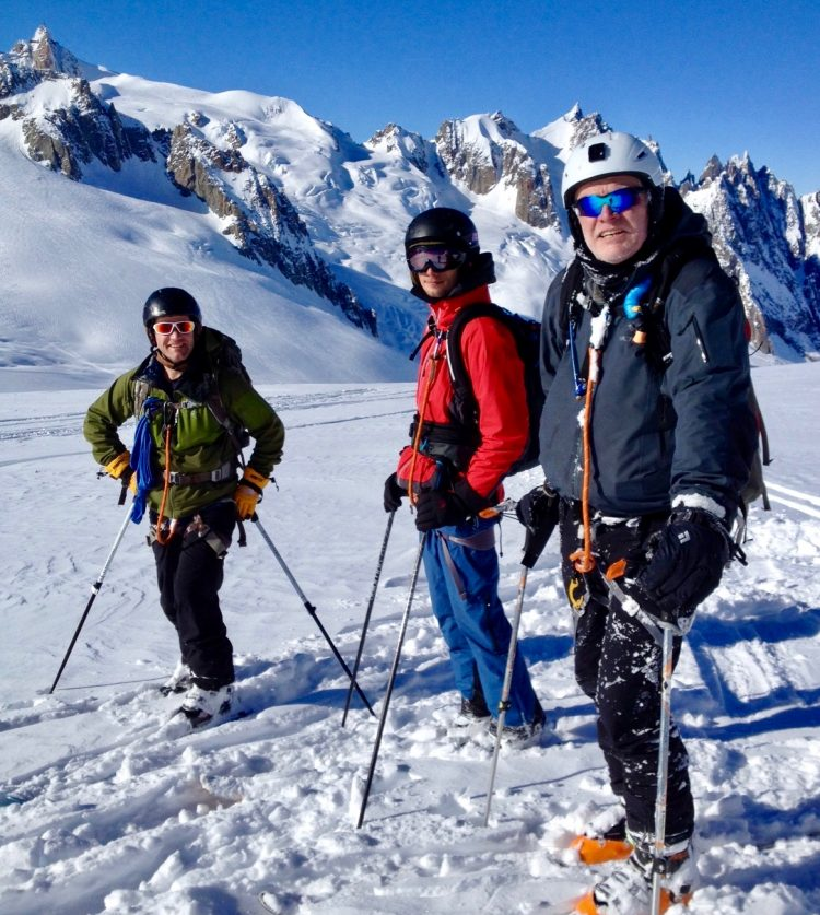 Skiing The Vallee Blanche From Italy