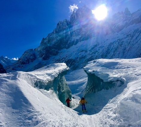 Ski Guiding The Vallee Blanche Chamonix