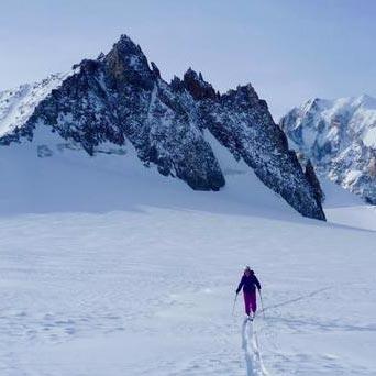 Ski Mountaineering From Punta Helbronner (3462m)