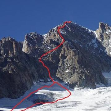 Aiguille Verte (4122m) Moine Ridge, AD, III