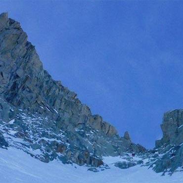 Chevalier Couloir (AD, 300m), Petite Aiguille Verte