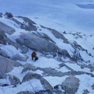 Claire Chazal (II,4) 500m Argentiere Basin, Chamonix