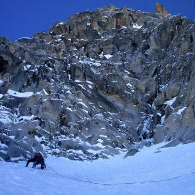 Farraon (II, 4+, 5c 400m) Argentiere Basin