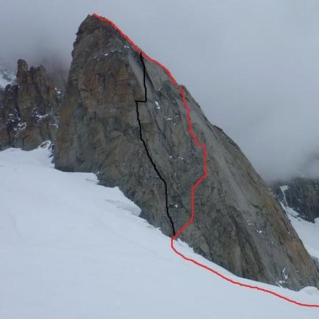 Pyramide du Tacul East Ridge, 270m, IV+