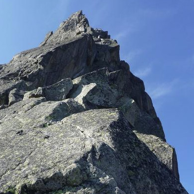 Aiguille de l'M, North East Arete, 200m F5b