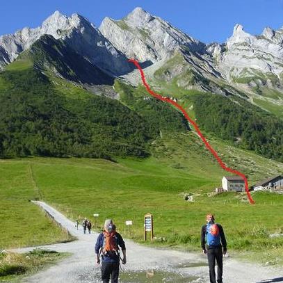 L'Arête à Marion 5b (4c/A0), 300m, Col Des Aravis