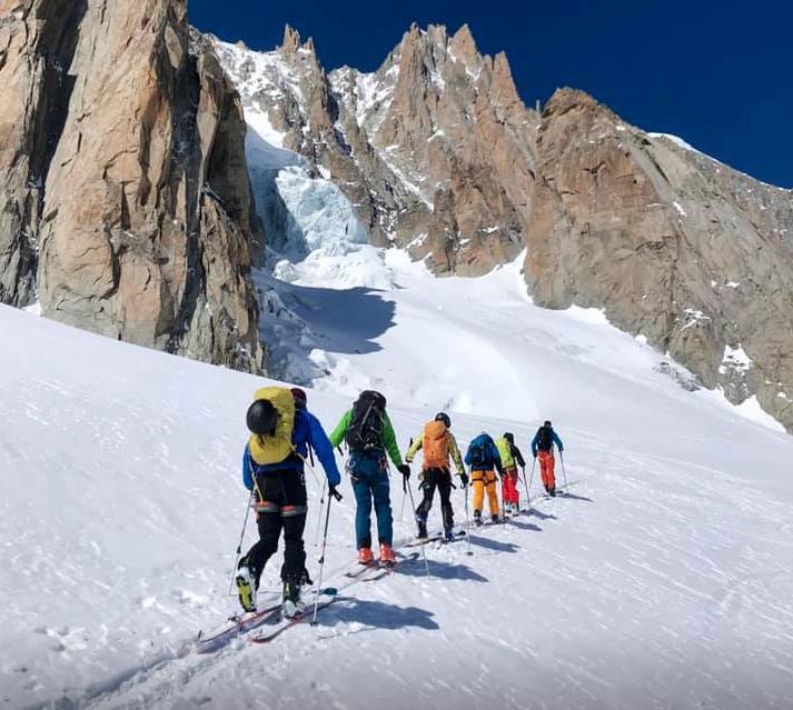 April 2019, Chamonix Off Piste & Ski Touring Course