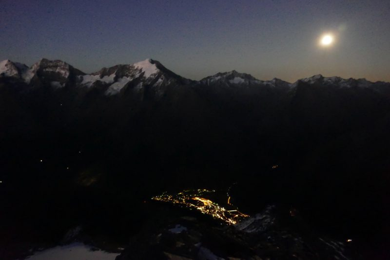 Saas Fee Moonrise