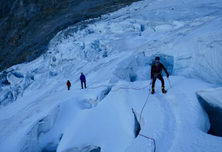 Chamonix Crevasse rescue training