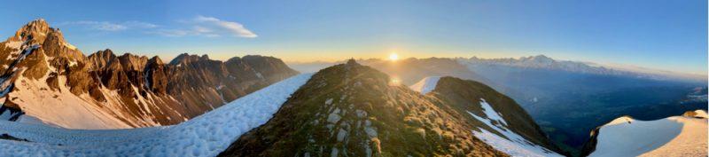Pointe Percée to Mont Blanc