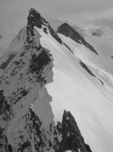 The fine East Ridge of the Breithorn AD