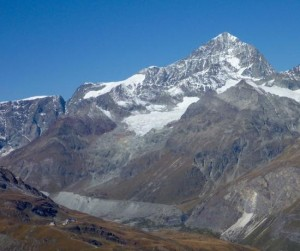 The Fine South Ridge Of The Dent Blanche Seen From Above Zermatt