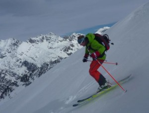 Fine Skiing on The North Face of Mont Freduaz