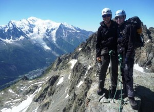 Mat & Simon, Father & Son Team on the Aiguilles Crochues Summit