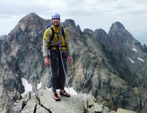 On the Summit of the Aiguilles Crochues after an Ascent of the South Ridge