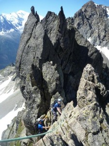 The Enjoyable Narrow Gendarmed Rock Ridge Section of the 'Crochues Traverse'