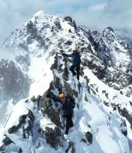 Wintery Mid July Conditions on the Aiguilles Crochues Traverse