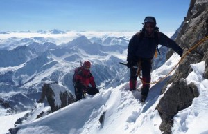 A Winter Traverse of the Aiguille Marbrees