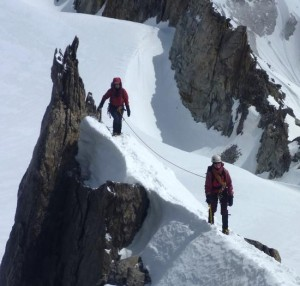 PD Alpine Ridge Mountaineering Training on our Intro Course  June 2013