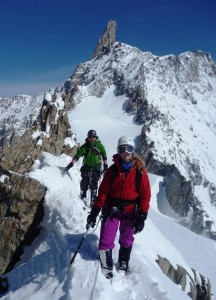 The Traverse of the Aiguilles Marbrees