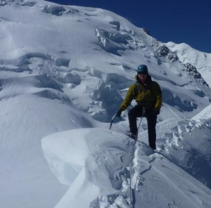 Pristine Snow Ridge Traverse on the Arete Laurence