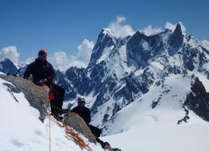 Scenic Break Stop on the Arete Laurence