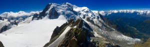 Mt Blanc Massif Panorama From The Top Of The Cosmiques Arete