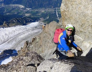 Rob Jarvis Topping Out From The Aiguille Du Midi NW Face