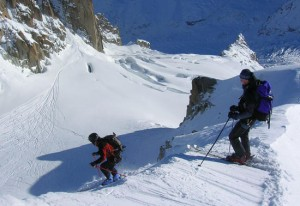 Col du Plan Variation on the Vallee Blanche Chamonix