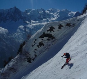 Brilliant South Facing Skiing in the Bellin Couloir Brevent