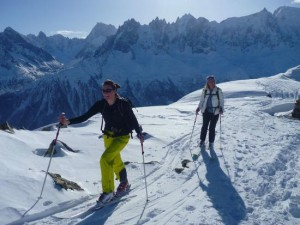 Crossing the Aiguilles Rouges Watershed At the Col Cornu 2406m