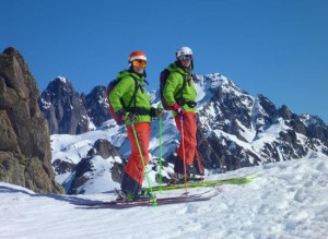 Derby Joiners on Steep Ski Patrol At Chamonix Brevent