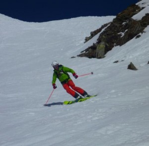 Fine Spring Snow Skiing On The Col De Brevent