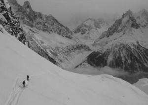 Fine Views Across the Chamonix Valley to the Mer de Glace from Flegere