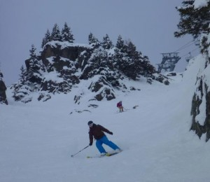 Good Grippy Cold Firm Pack Snow For Steep Skiing At Brevent