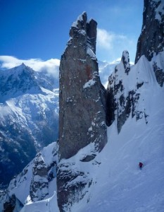 Rock Pinnacle  Gendarme  In The Ensa Couloir
