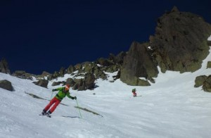 Steep Skiing on The Brevent Hotel Face