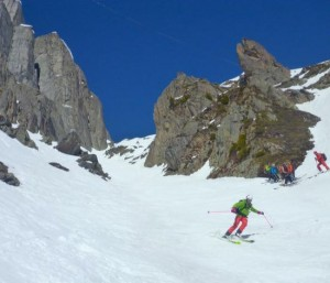 Superb Steep and Scenic Skiing Under the Crags Of Brevent Bellin Couloir