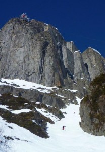 The Long Lower Section Of The Bellin Couloir