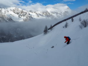 Good North Facing Powder Skiing On The Val Veny Side Of Courmayeur Ski Resort