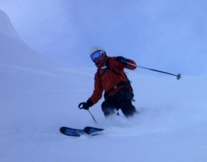 Good Snow on the Entrance Pitch to the Vallon dArp