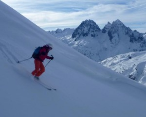 Great January Powder Off The North Side Of The Tete De Charamillon