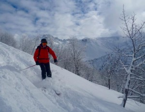 Great January Powder On The Superb Journey From Roslette To Belleville