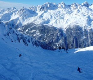 Good Early Winter Conditions in the Lavancher Bowl Les Grands Montets